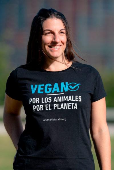 Camiseta Vegan☑️  – Por los animales · Por el planeta- Chica